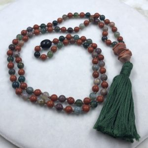 Fancy and Red Jasper Mala