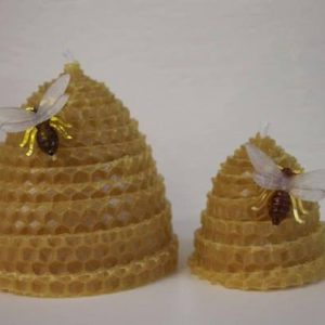 Beeswax Beehive Candles Natural Small Large