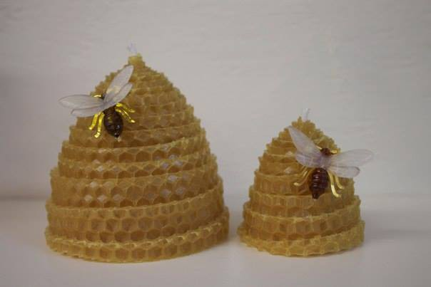 Beeswax Beehive Candles Natural