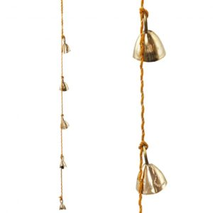 String of 5 Brass Hanging Brass Bells