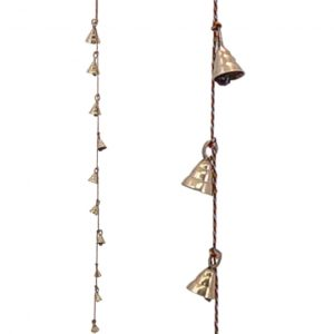 String of Ten Hanging Brass Bells