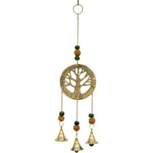 Tree of Life Hanging Brass Bells